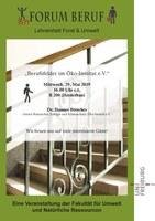 Forum Beruf - Vortrag am 29.05.2019